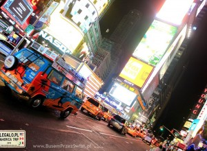Bus z Polski na Manhattanie! Time Square, New York - Busem Przez Świat